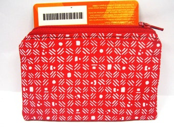 women wallet, red white, id credit card case, zip coin purse, id1370618, portemonnaie moneybag small zipper pouch, portefeuille, gift her