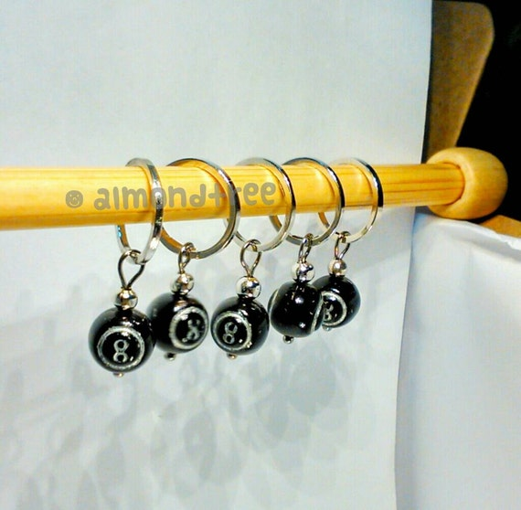 Knitting Supplies Singapore : Sale set of stitch markers black cue magic ball