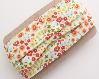 Quilt Binding - 4 Yards Double Fold Floral Fabric Binding Trim