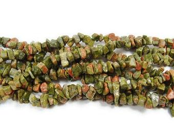 Unakite Chips Gemstone Beads