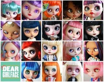 OOAK Custom Blythe Art Doll Commission Spot by Dear Girlface Dolls - DOLL PROVIDED
