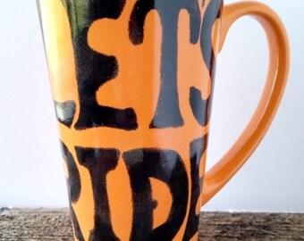 Ceramic Mug, Pottery Mug, Bike Mug, Ceramic Coffee Cup, Ceramic Bike Mug, Pottery Bike Mug, Bicycle Mug, Bicycle Cup