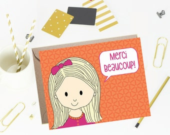 Thank You Note Cards for Kids- Clementine