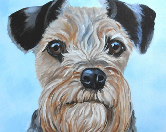 Dog Portrait Oil Painting, small original of your pet