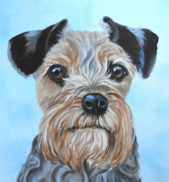 Dog Portrait Oil Painting, Small or Large