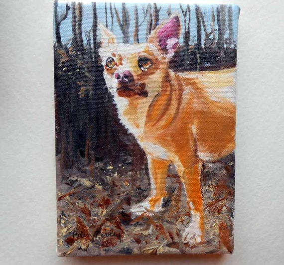 Custom Dog Portrait Oil Painting by Etsy Artist Robin Zebley