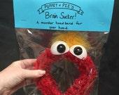 Brain Sucker Monster Headband (wide) Red
