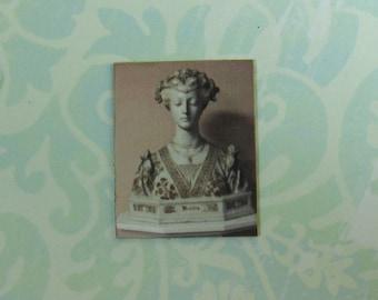 Dollhouse Miniature Renaissance Lady Bust Print Wall Panel