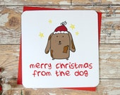 BLACK FRIDAY SALE merry christmas from the dog funny xmas card