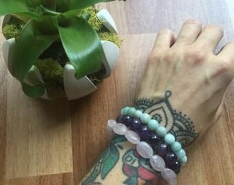 Handmade Rose Quartz Stretch Bracelet