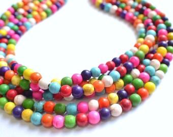 The Michelle- Multi Color Magnesite Statement Necklace