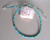 """Special Order for Kirstin - 16"""" Kingman Boulder Turquoise Heishi Necklace With Sterling Silver Lobster Claw Clasp"""