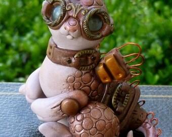 Tage - Steampunk Dragon Pal Sculpture
