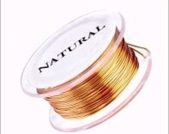 Natural 22 gauge Genuine Parawire Premium Quality Non Tarnish Beading Wire 100 feet