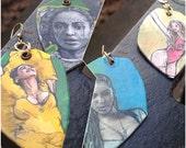Beyonce Lemonade hand-painted earrings - double sided