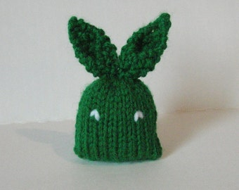 Stuffed Bunny - Mini Plushie Rabbit Toy - Green