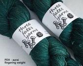 PDX - aurai fingering weight merino yak nylon sock yarn, dyed to order
