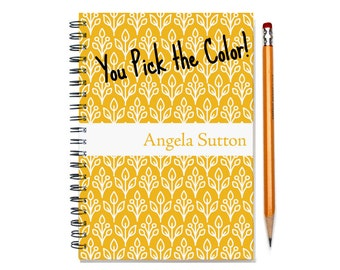 18 month personalized planner, Start any month, weekly planner, 2017-2018 month customizable planner, floral design, SKU: epi cflower