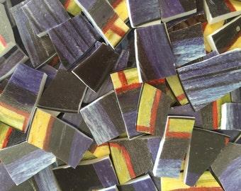 Mosaic Tiles Mix Broken Plate Art Hand Cut Pieces Supply Van Gogh Painting Colors 100