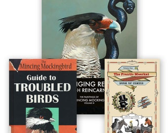 Revenge Library Combo - Books - Literature - Humor - Art - Comics - Paintings - Mincing Mockingbird - Frantic Meerkat - Gift