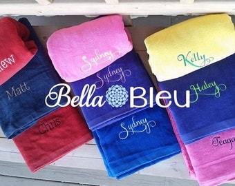 Custom Beach Towel, Custom Monogrammed Towel, Custom Monogrammed Beach Towel, Custom Graduation Beach Towel, Graduation Gift