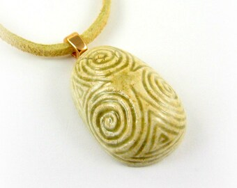 The Celtic Druid's Egg© Clay Pendant