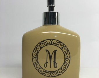 boutique monogrammed soap dispenser