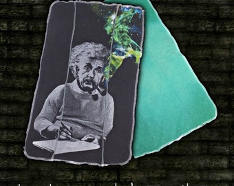 Albert Einstein Burp Cloth . Recycled. Upcycled.