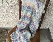 Unicorn Blankie - Handknit Rainbow Blanket