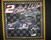 Out of Print Rusty Wallace #2 Nascar Pillow Panel
