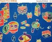 ON SALE SALE Takara Treasury Silk Kimono Fabric, Vintage Japanese Textile, Blue Silk Craft Supply
