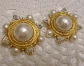 Vintage 80's Couture High-end Designer David Dubin Earrings  Runway Earrings