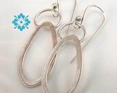 Pear shape dangle earrings Sterling Silver