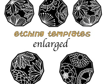 Floral Digital Pattern for Etching Pendant /Earrings Download