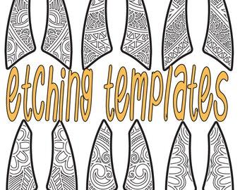 Digital Pattern for Etching Machete Earrings Download DP 4096-2