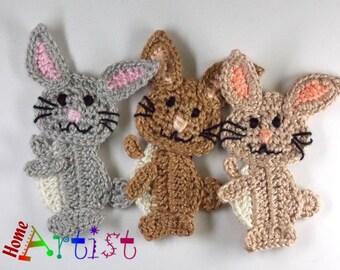 Crochet Applique Bunny Rabbit