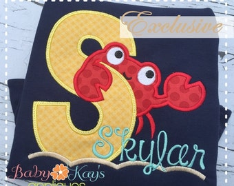 Crab Applique Design Alpha Set A-Z 4x4, 5x7, 6x10, 8x8