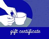 Shark Mug gift certificate: June delivery