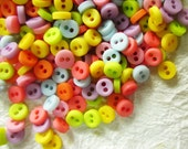 100 pcs Opaque Very Tiny 2 hole button - 5 mm.  for making Barbie, Blythe and dolls clothes SET9