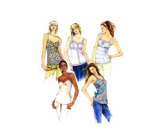 Misses Shoulder Strap Raised Waist Tops McCalls 4454 Sewing Pattern Size 8 - 10 - 12 - 14 Bust 31 1/2 - 32 1/2 - 34 - 36 UNCUT