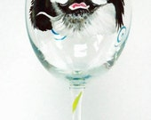 Custom Pet Portait wine glass for annaaustin4