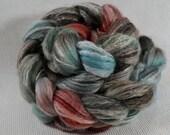 NEW Yarn Hollow Hand Dyed Merino Superwash Bamboo Nylon - Panda - Rust and Sage Multi Color