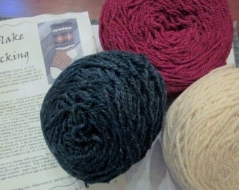 Snowflake Stocking Kit-Yarns for Ewe-All pieces included-All profits go to Charity