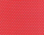 "26"" piece/remnant - Vintage Picnic - Spot in Red: sku 55128-11 cotton quilting fabric by Bonnie and Camille for Moda Fabrics"