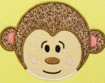 Applique Monkey Face- 5x7 hoop