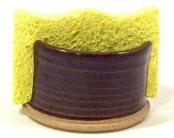 Sponge holder in dark floating blue