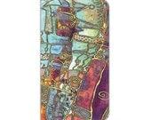 purple, Boho, iPhone 6s plus wallet case, iPhone 6s wallet case, wallet case, Art, abstract art, Folio/wallet cases, iPhone 6 wallet case
