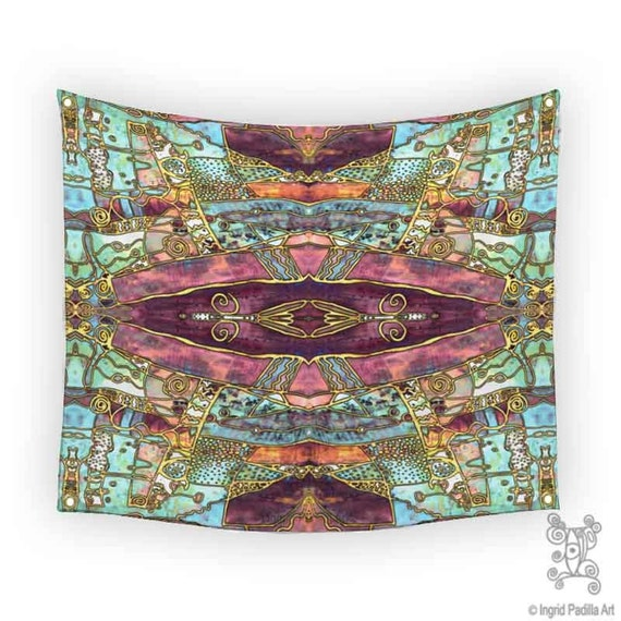 Bohemian Tapestry Boho Tapestries Tapestry Wall By Ingridsart