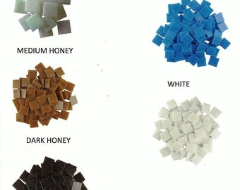 25 pack of 3/4 inch square Venetian Glass Mosaic Tiles  (( with 26 colors to choose from ))  You also get complete Mosaic Instructions