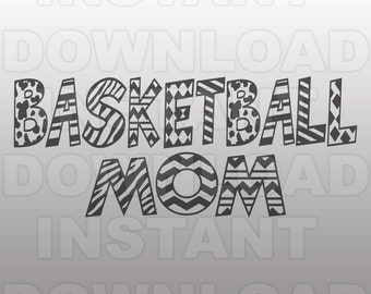 Basketball Mom SVG File - Varsity Sports SVG File - Commercial & Personal Use- svg file for Cricut,svg file for Silhouette,vinyl cutting